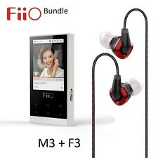Fiio M3 portable lossless music (flac/WAV/MP3) player + F3 iem casque bundle