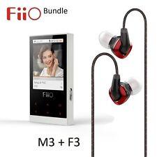 FiiO M3 Portable Lossless Music (FLAC/WAV/MP3) Player + F3 IEM Headphone BUNDLE