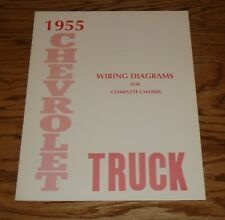 1955 Chevrolet Truck Wiring Diagram Manual for Complete Chassis 55 Chevy