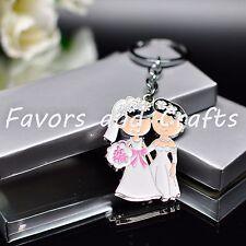 12 PCS Lesbian Couple Key Chain Favors Marriage Gift Party Romance Mrs & Mrs