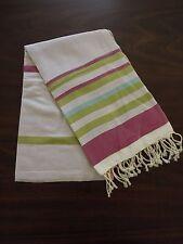 Nautical Cotton Large Towel - Turkish Beach Bath Peshtemal Towel - Purple