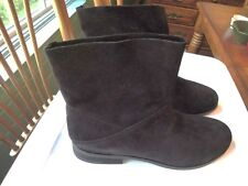 Eileen Fisher Jaunt Boots  9.5  Black  Suede low heel Traction NEW in Box  $260