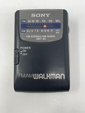 Sony SRF-49 Portable FM/AM Radio Walkman w/ Belt Clip - Tested, Works