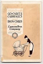 1916 LAMSON BRO OLD CATALOG BABY BUGGIES ETC GREAT, NOW ON SALE, FREE SHIP AD352