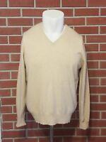 Burberry London Long Sleeve V-Neck Cashmere Sweater Mens Medium Made in Scotland