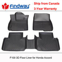 Findway F100 3D Car Floor Mat / Liner for 2018-2020 Honda Accord Sedan