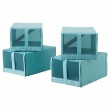 Boites de rangement bleues en tissu pour la maison