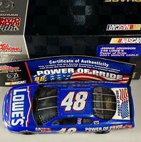 2002 Jimmie Johnson Lowe's Power of Pride Rookie 1/24 Racing Champions #306