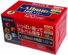 SONY 8 mm video cassette 120 minutes Hi8MP type Volume 3 pack 3P6-120HMPL