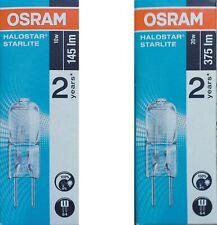 10W / 20W Osram Stiftsockellampe G4 12V Halostar 64415s 64425s Stiftsockellampen