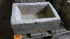 Alter Trog aus Granit 36 cm lang  Steintrog Granittrog G1193 Brunnen Waschbecken