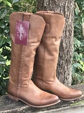 lucchese womens boots 8.5 Leather Knee High Riding NWT