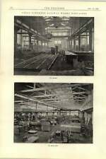1892 Great Northern Railway Works Doncaster 2 Foundry Boiler Shop Riveting Plant