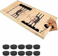 NEW Board Game Fast Sling Puck Game – Hockey Wooden Games for Kids and Adults