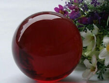 40mm + Stand Asian  red Magic Crystal Healing Ball Sphere