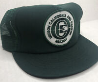 Oregon California Eastern Railway Vintage Cap Hat Adult Snapback Mesh Green USA