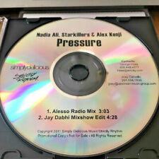 NADIA ALI Starkillers Alex Kenji PRESSURE (RARE MIXES) PROMO Radio DJ CD 2011