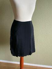 Versace for H&M Rock Faltenrock Seide Schwarz Skirt Silk EUR 34 Size US 4 UK 8