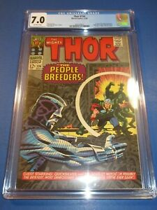 Mighty Thor #134 Silver age 1st High Evolutionary Key CGC 7.0 FVF Beauty wow