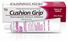 Cushion Grip a Soft Pliable Thermoplastic for Refitting and Tightening Denture