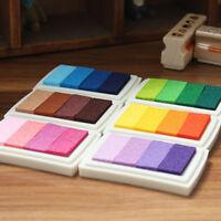 Stempelkissen Set 4 Teile Ink Pad Stempel Kissen mit Farbverlauf Ink 24 Farben