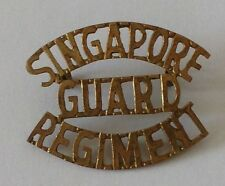 Singapore Guard REGIMENT Shoulder Title Badge Malaya Police Colonial Emergency