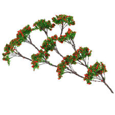 10x/Pack Red Flower Tree Models 5cm 1/200 Scale for RR Train Diorama Scenery