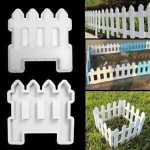 DIY Garden Fence Mold Cement Plastic White Brick Concrete Paving Mould