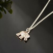 5PCs Fashion Charm Jewelry Rose Gold Elephant Statement Chain Pendant Necklace