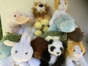 Ganz Webkinz Virtual World Stuffed Animals Collectible13 Pcs 2 W/ Unopened Tags.