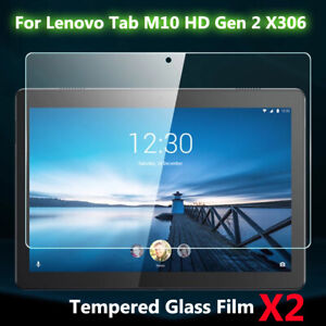 2pcs Tempered Glass Film Clear Screen Protector for Lenovo Tab M10 HD Gen 2 X306