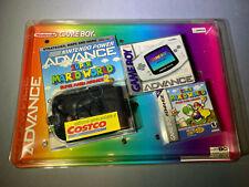 Nintendo Game Boy GameBoy Advance White Handheld Costco Bundle New