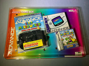 Nintendo Game Boy GameBoy Advance White Handheld Costco Bundle New