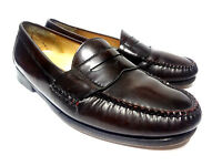 Cole Haan Penny Loafers Burgundy Leather Moc Toe Slip On Mens Shoes 9 D