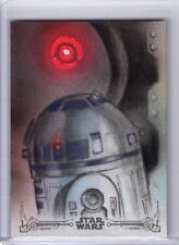 Star Wars ANH Black and White Sketch Card R2-D2 by Huy Truong Topps SFC