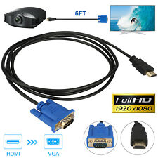 New listing Hdmi Male to Vga Male Video Converter Adapter Cable 1080P Fhd for Pc Dvd Tv Hdtv