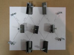 COLEMAN 10 x 10 CANOPY TRUSS CONNECTORS - COMPLETE METAL HARDWARE FOR 1 SIDE