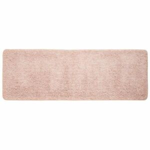 "mDesign Soft Microfiber X-Long Accent Rug Mat/Runner, 60"" x 21"" -  Pink/White"