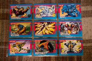 1992 Impel The Uncanny X-Men Trading Card Set Complete + Holograms + Promos