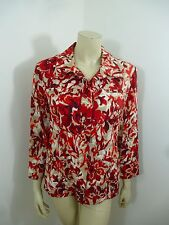 Coldwater Creek NWT Multi-Color 3/4 Sleeve Woman Top Light Jacket Size 10