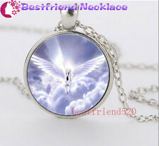 Flying unicorns Cabochon Glass silver necklace for women men Jewelry