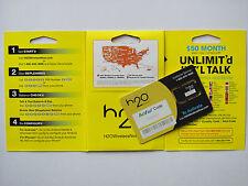 H2O Wireless Mini/Micro (Nano*) SIM Karte für USA (Prepaid ohne Guthaben, Neu)