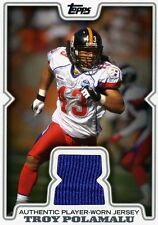 TROY POLAMALU ( BLUE ) 2008 TOPPS PRO BOWL PLAYER-WORN JERSEY CARD STEELERS