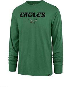 Philadelphia Eagles Men's Throwback Logo Super Rival Long Sleeve Shirt - Green