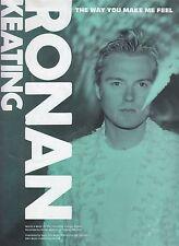 The Way You Make Me Feel - Ronan Keating - 2000 Sheet Music