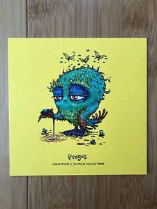 Marq Spusta Peagus 5x5 Yellow Art Print Mini, Bird