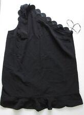 NWOT Victoria Beckham -Target-1 Shoulder Scallop Ruffle Hem Dress-Black-Plus 3X
