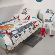Dragon Castle Bedding House 100% Cotton SINGLE Size Quilt Doona Cover Set
