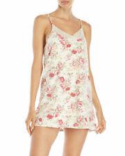 Flora Nikrooz Knit Chemise L Ivory Floral Lace Trim Short Nightgown