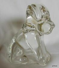 Vintage Clear Glass Dog Candy Holder 2.75""